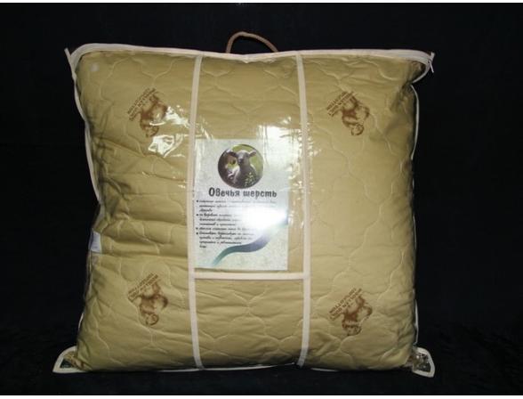 Подушка ARYA овечья шерсть Шерстепон Sheep Wool 70X70