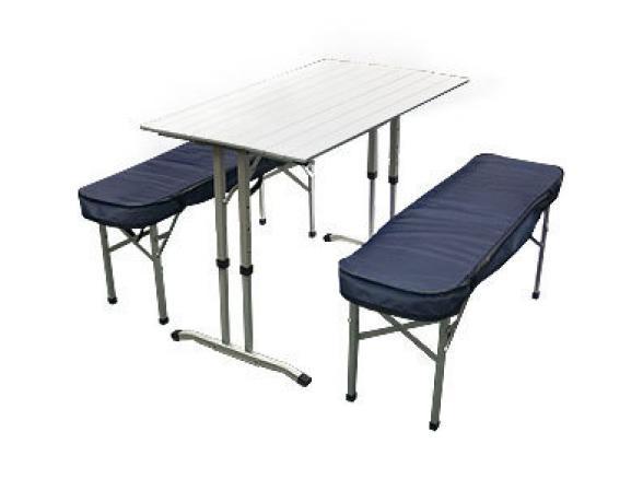 Складной стол со скамейками Camping World Optimus