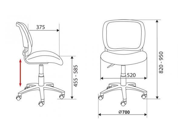 Кресло BURO CH-297/DG/15-48