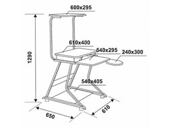 Стол компьютерный Stoneside DL-777/Gray