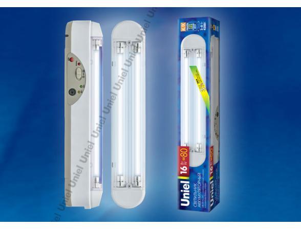 Светильник аккумуляторный Uniel URL-04-AC/DC-T5-8W2-3,5HRS-WH