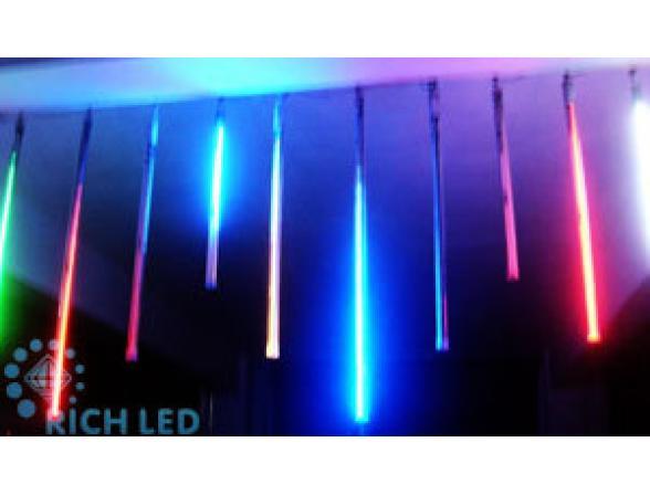 Тающая сосулька светодиодная Rich LED 50 см, цвет: белый