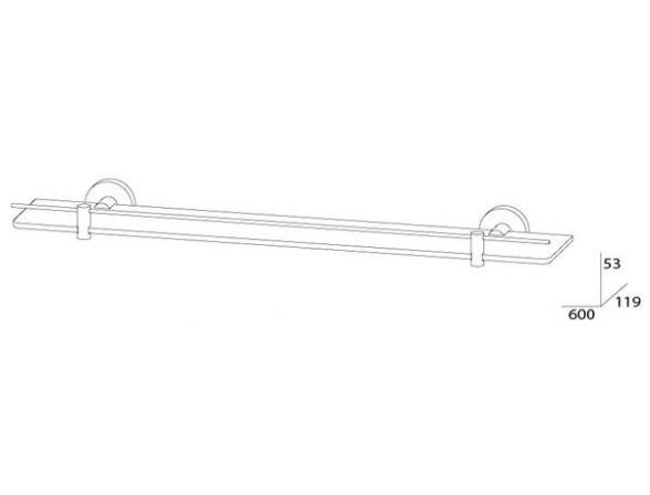 Полка ARTWELLE HARMONIA 60 см HAR 036