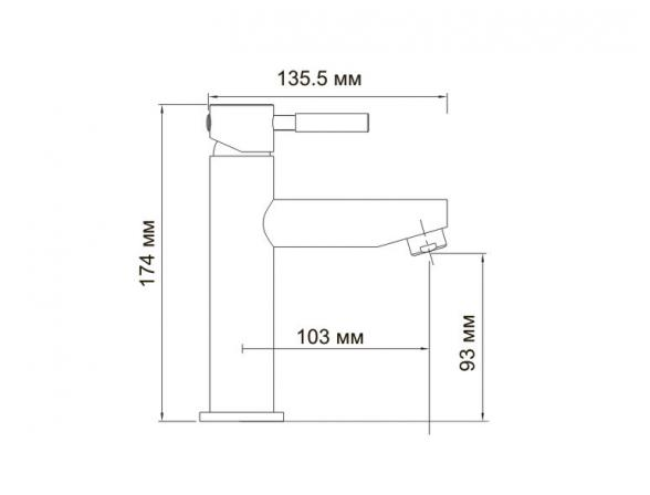 Смеситель для умывальника WasserKRAFT Main 4104