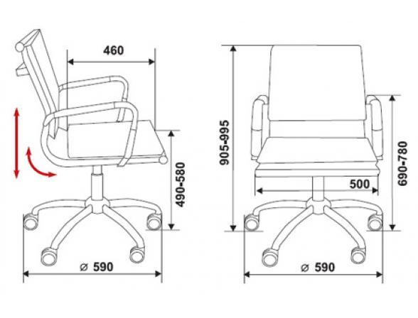 Кресло BURO CH-993-Low/brown