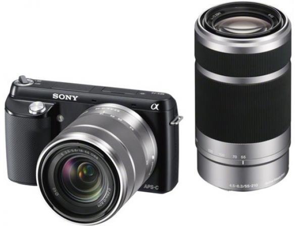 Цифровой фотоаппарат Sony Alpha NEX-F3Y Kit 18-55 + 55-210 black*