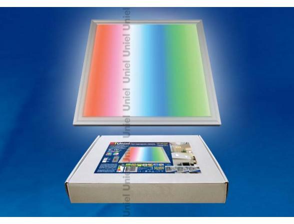 Светильник потолочный Uniel ULP-3030-18/RGB/RC SILVER