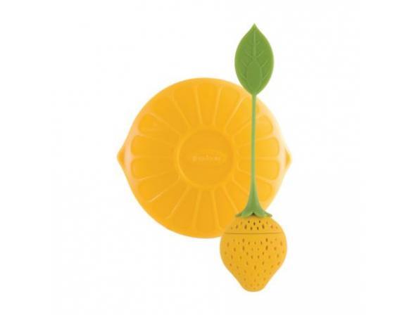 Ситечко силиконовое для заваривания чая Trudeau Клубничка цвет: желтый