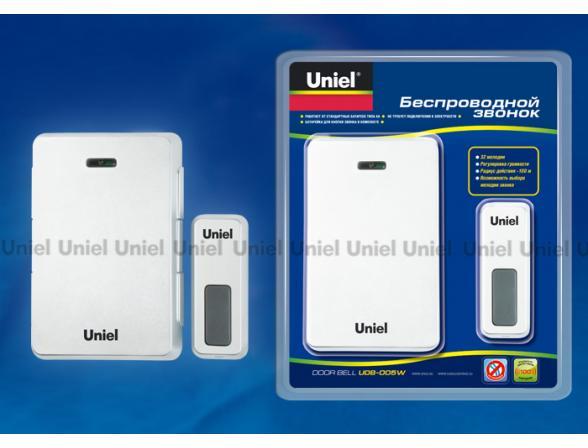 Звонок беспроводной Uniel UDB-005W-R1T1-32S-100M-WH