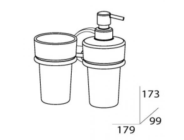 Держатель стакана и дозатора для жидкого мыла FBS LUXIA LUX 008