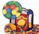 Палатка игровая+100 шаров EDU-PLAY 6-угольный складывающийся каркас с тентом