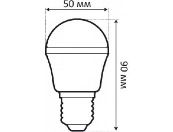 Светодиодная лампа Ecomir 4W E27 , E27 4Вт, желтый/матовый 42913
