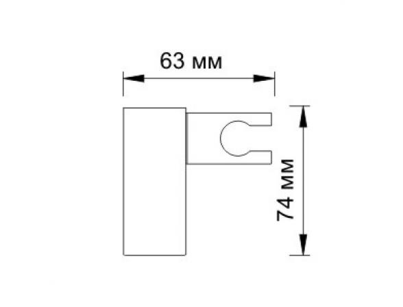 Настенный держатель лейки WasserKRAFT А011