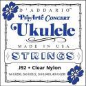 Струны для укулеле концерт Pro-Arte D'ADDARIO Titanium J92