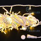 Светодиодная гирлянда Rich LED 10 м, 24В, цвет: теплый белый. Белый провод.