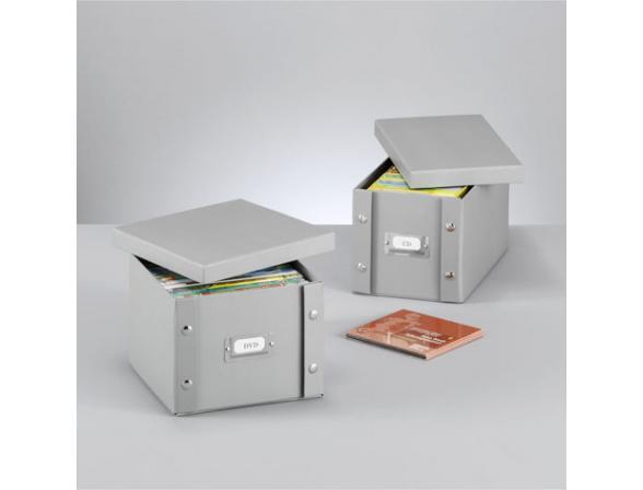 Короб для CD- дисков Zeller 21,5х20,5х15см.,картон  17796