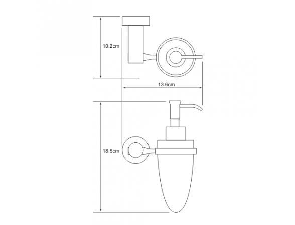 Дозатор жидкого мыла навесной WasserKRAFT Donau K-9499C