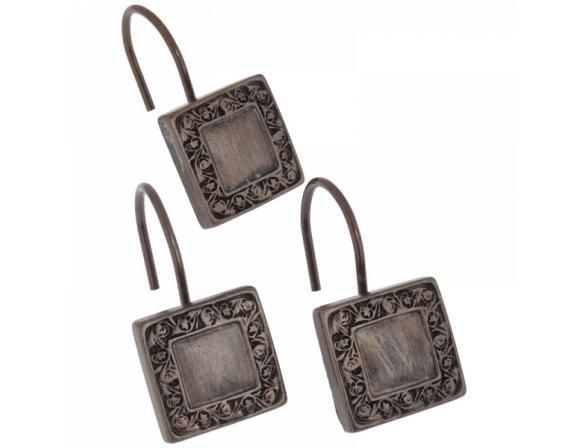 Набор из 12 крючков для шторки CARNATION Lakewood Bronze