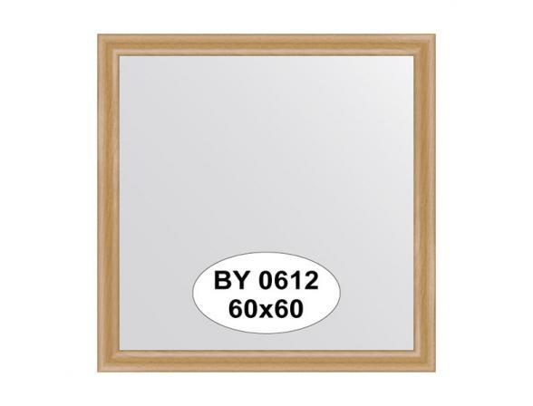 Зеркало в багетной раме EVOFORM клен (60х60 см) BY 0612