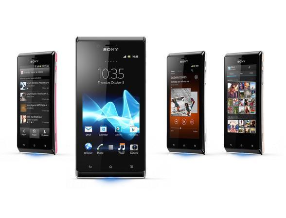 Смартфон Sony Xperia J ST26i Black/Pink