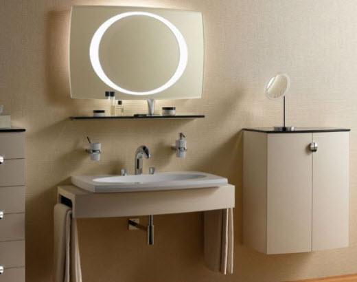 зеркало со светильником