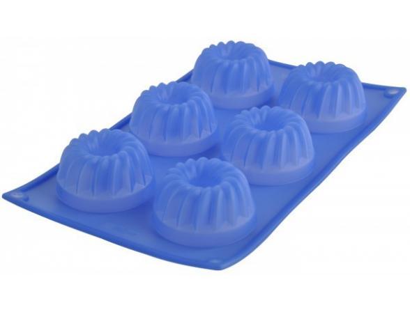 Форма для кексов 6 ячеек фигурные Regent Inox Silicone 93-SI-FO-24