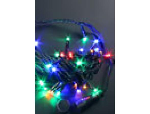 Светодиодная гирлянда Rich LED 10 м, цвет: мульти. Черный провод