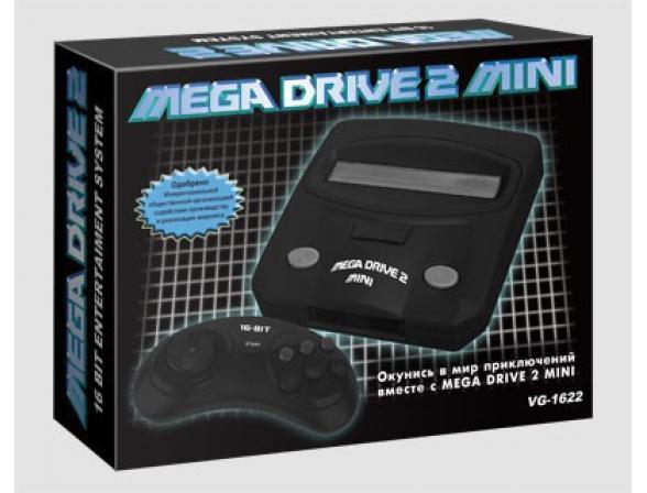 Игровая приставка Mega Drive 2 mini + 9игр (прист., 2 дж., AV-каб., адап.)