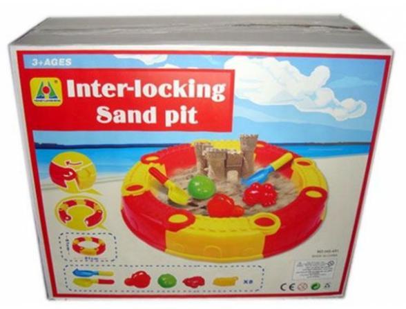 Песочница EDU-PLAY Веселый пляж + 5 предметов