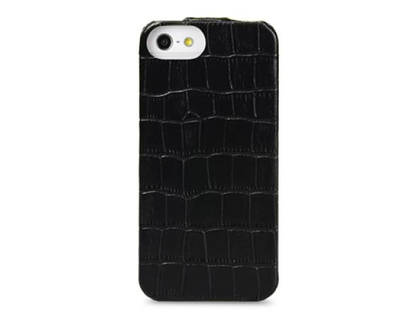 Чехол Melkco Premium Leather Case for Aplle iPhone 5 -  Jacka Type (Crocodile Print Pattern-White)