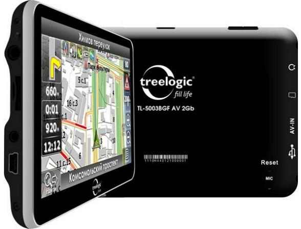 Навигатор Treelogic TL-5003BGF AV 2Gb