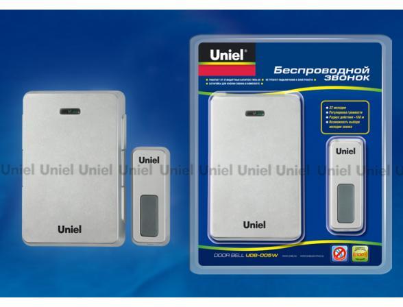 Звонок беспроводной Uniel UDB-005W-R1T1-32S-100M-LS