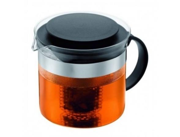 Чайник заварочный c прессом BODUM Bistro 1.0л черный