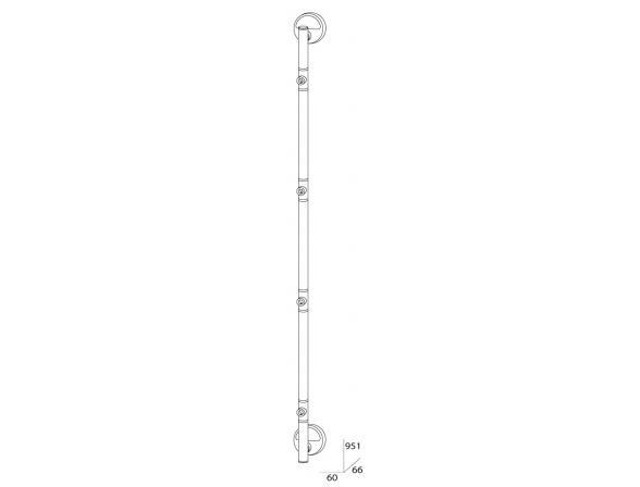 Штанга четырехпозиционная FBS LUXIA 95 см LUX 076