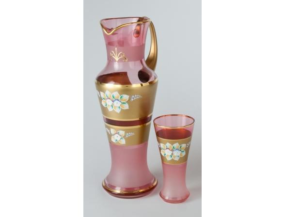 Набор для воды Crystal Art 1+6, 25101 (розовый)