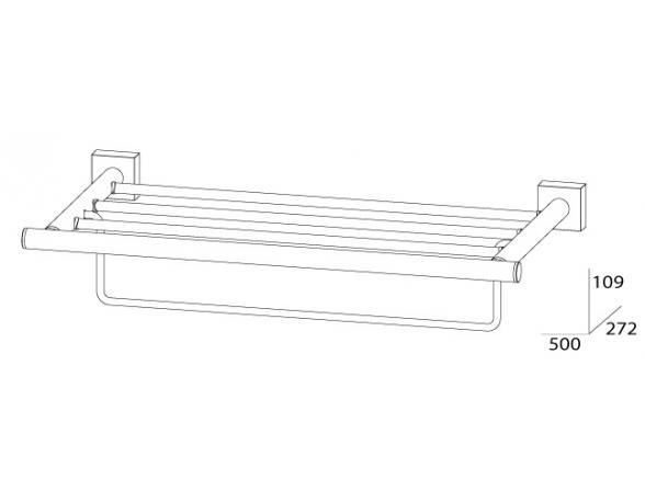 Полка для полотенец с нижним держателем FBS ESPERADO 50 см ESP 041