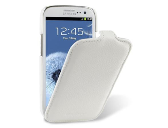 Melkco Premium Leather Case for Samsung Galaxy S III i9300 - Jacka Type (White LC)