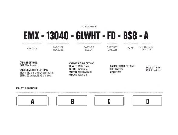 Стойка под TV Elements EMX-13040-WDAMZ-FD-BS8-A