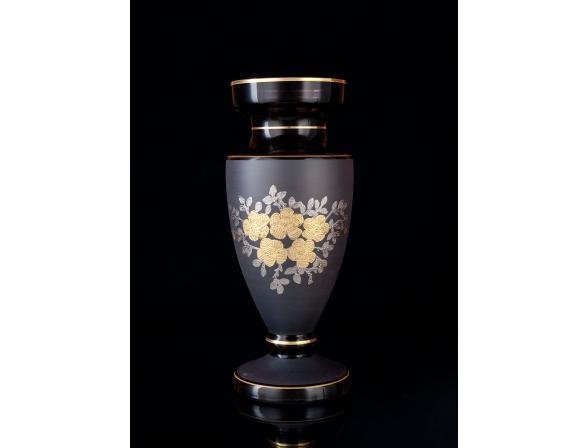 Ваза Crystal Art 50813, 30см (дымка/золото)