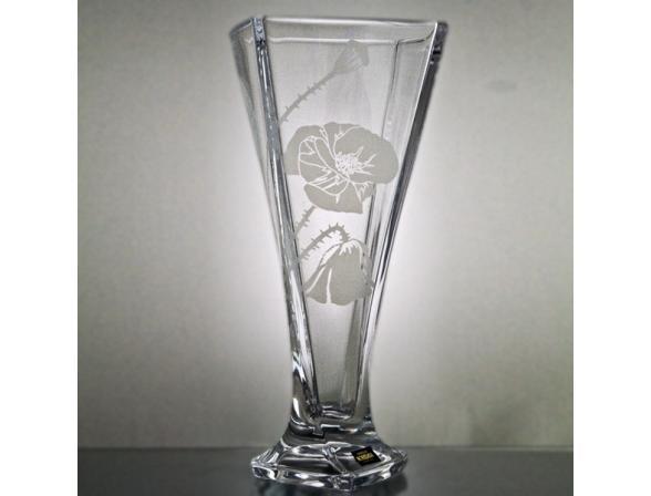 Ваза Crystalite Bohemia Квадро 28 см мат.мак