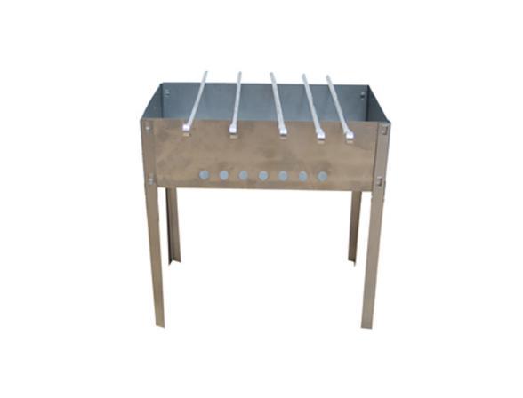 Мангал разборный с шампурами КЭМЗ (480x300x480 мм)