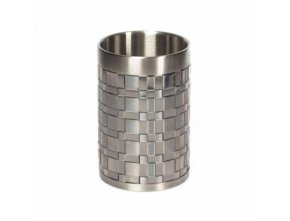 Стакан для зубной пасты AVANTI Basketweave Silver