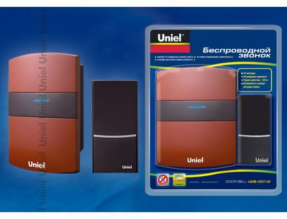 Звонок беспроводной Uniel UDB-001W-R1T1-32S-100M-RD
