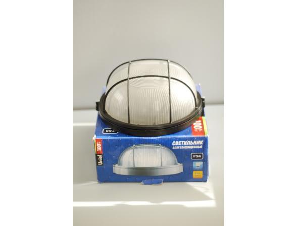 Светильник пылевлагозащищенный Uniel UWL-R-02-100-Black