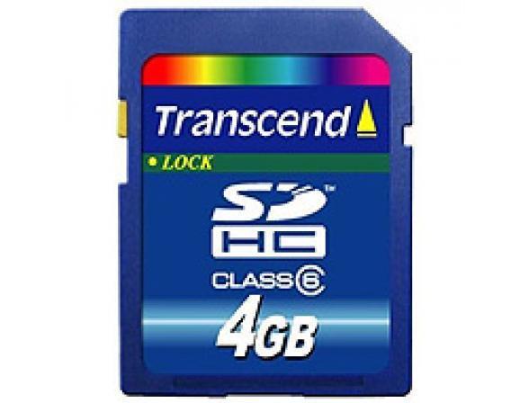 Флэш память Transcend 4Gb SDHC Card Class 6