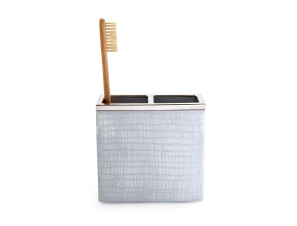 Стакан для зубных щеток KASSATEX Delano Silver ADL-TBH-SLV