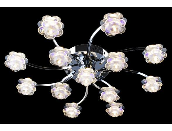 Люстра Halogen 4853/13 хром/фиолетовый