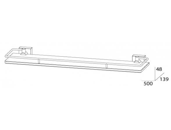 Полка с ограничителем FBS ESPERADO 50 см ESP 015