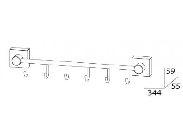 Держатель с 6-ю крючками FBS ESPERADO 35 см ESP 027