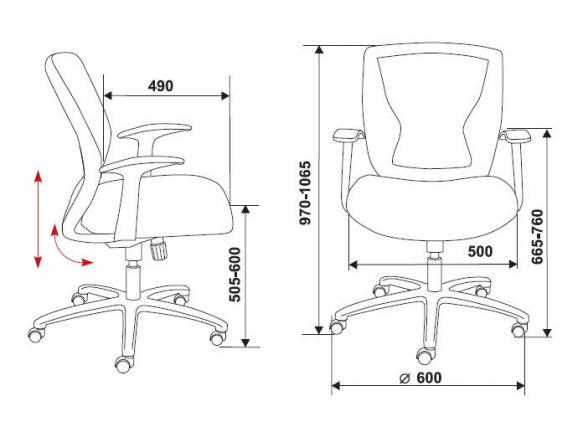 Кресло BURO CH-897AXSN/TW-11